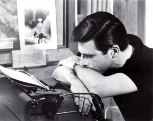 Harlan Ellison at his typewriter